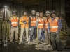 Group portrait of workers underground on the Crenshaw Line.