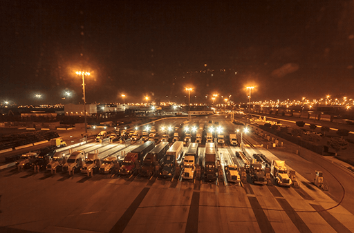 time lapse frame pull from the Yusen Terminals night shoot