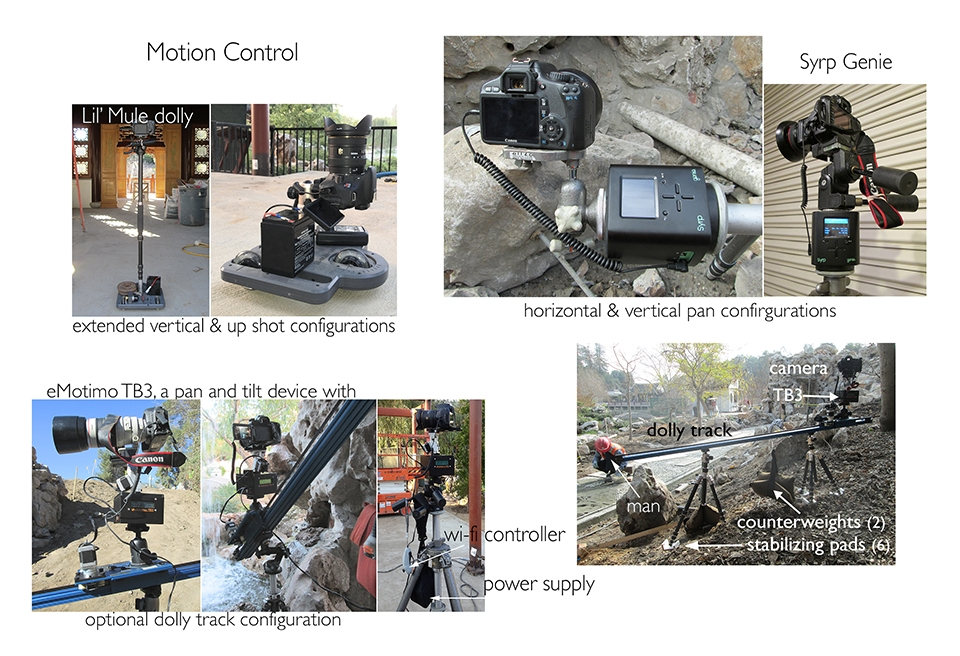 motion control devices for time lapse